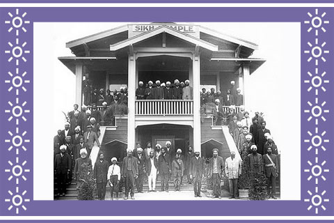 The first Sikh temple in Stockton CA - 1915