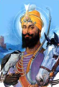 Guru Gobind Singh Ji with Falcon