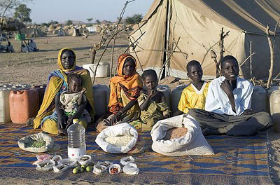 Chad The Aboubakar family of Breidjing Camp Food expenditure for one week $1.23