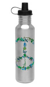 Reusable steel bottle