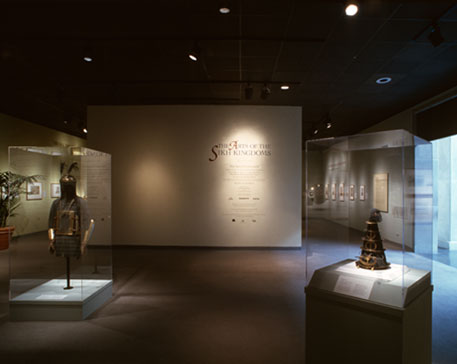"""Fig. 13. View of the """"Arts of the Sikh Kingdom"""" exhibit at the Victoria & Albert Museum in London (1999)"""