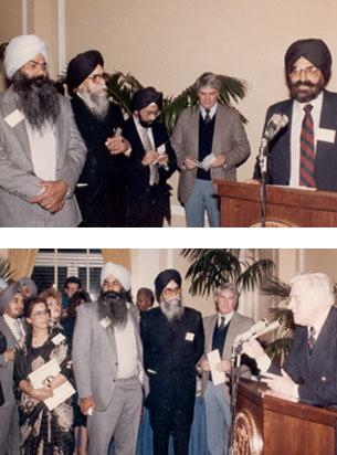 Dr. Kapany addressing US senators in Washington D.C , 1984 Pic: Sikh Foundation archives