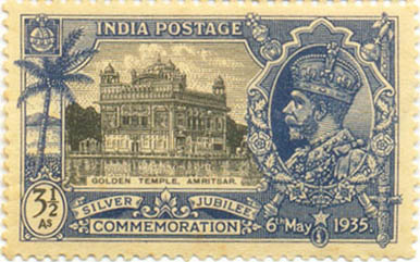 The first Sikh stamp was issued in 1935
