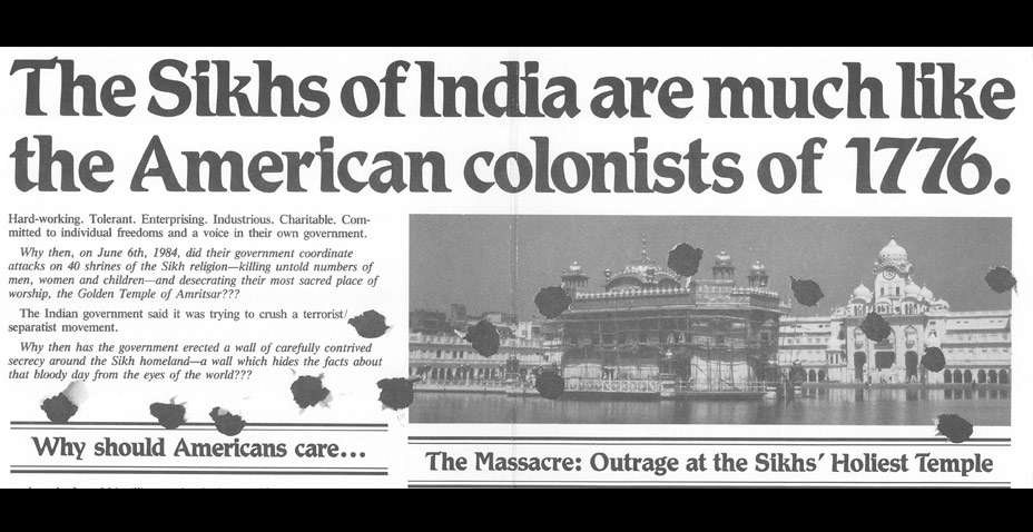 A Brief History Of One Sikh American's Response To 1984