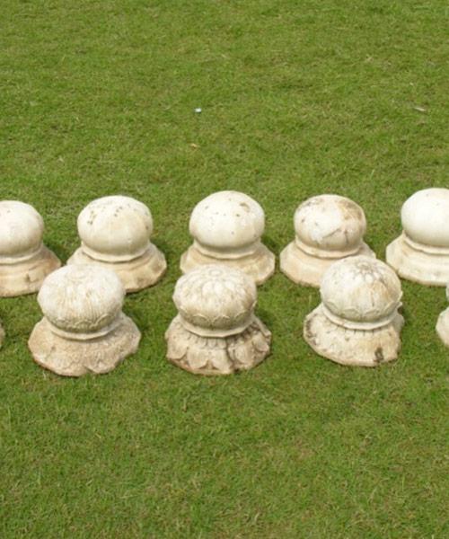 Commemorative lotus bulbs in Maharaja Ranjit Singh's Samadhi
