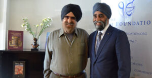 Minister Harjit Singh Sajjan visits the Sikh Foundation