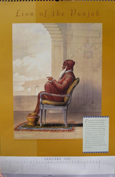 Sikh Fine Art Calendar 2001: The Kapany Collection